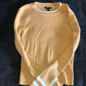 Forever 21 Long sleeved yellow top